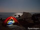 Camping vid havet