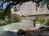 En liten flod i Valle Elqui