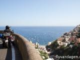 Ett av många stopp längs med Amalfi-kusten