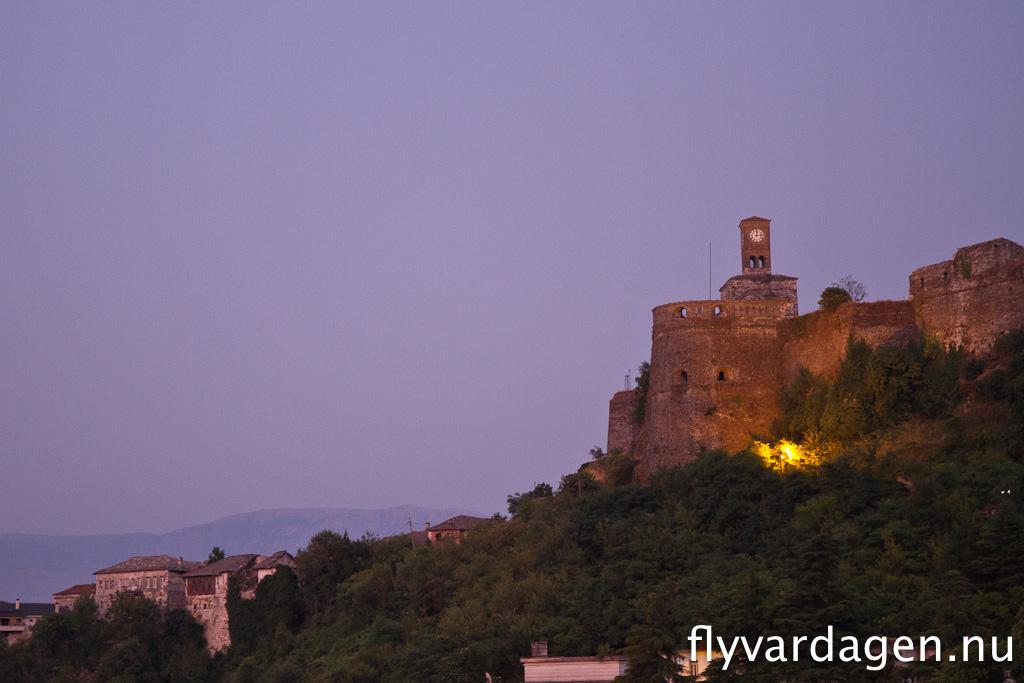 Slott över Girokaster, Albanien