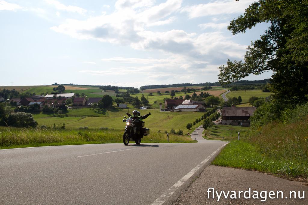 Berg och dalbana i Tyskland. 17 graders lutning på backen
