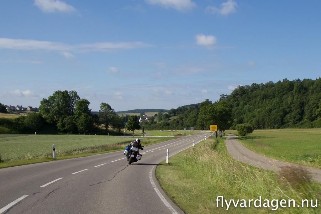 Härlig mc-väg i Tyskland