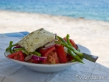 Grekisk sallad. Minst lika gott som det ser ut