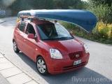 Liten bil stor kanot