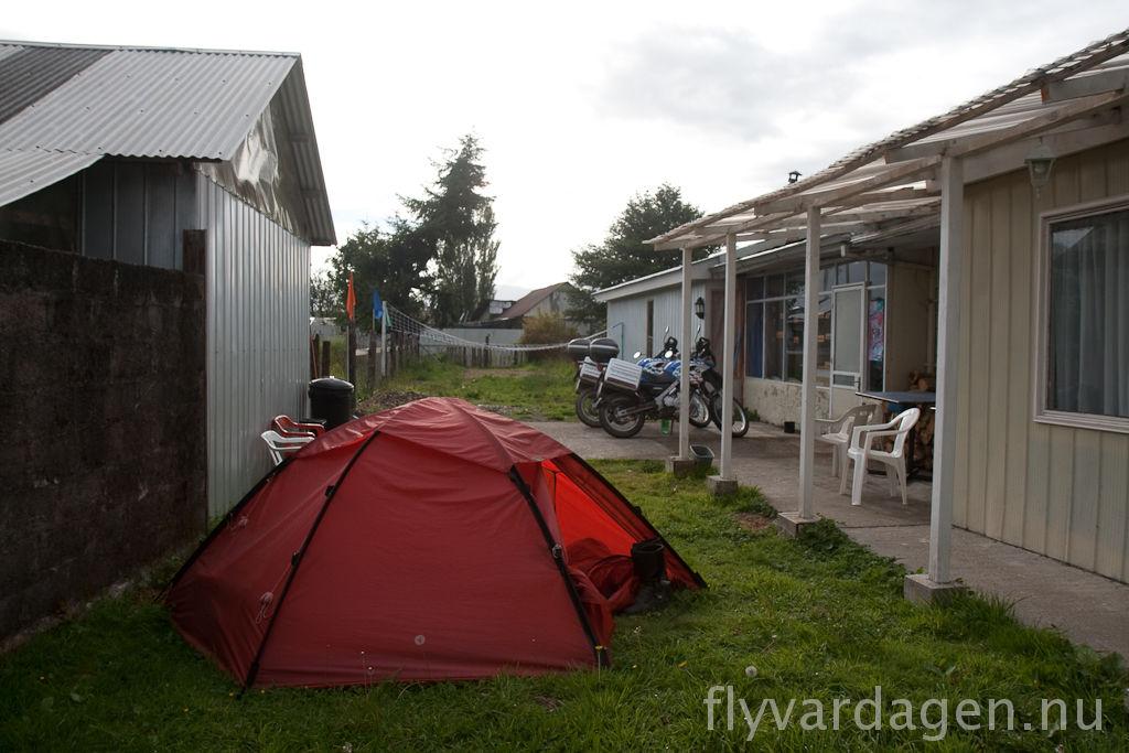 Camping utanför hostel
