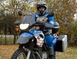 Roberto på motorcykeln