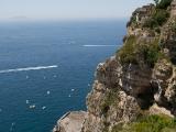 Amalfi-kusten, Italien. Vackert och rolig körning